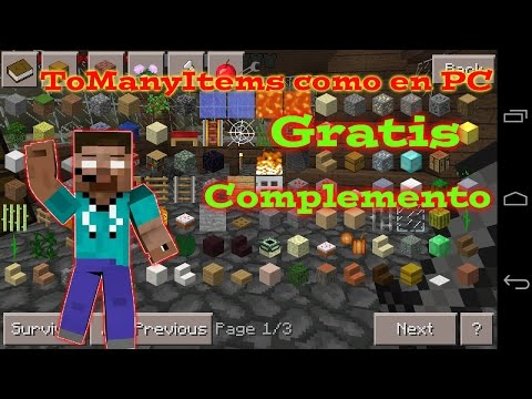 ToManyItems como en PC•Minecraft Pe•Complemento