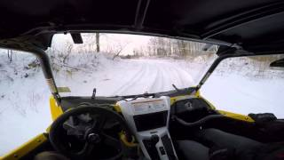 9. Yamaha YXZ1000R ripping around on the snow and ice