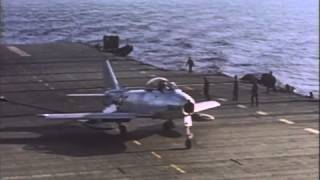 "Taken from the rocket.aero DVD ""FJ Fury: Wings for the Fleet,"" this selection shows carrier-based operations of the FJ-2 jet fighter."