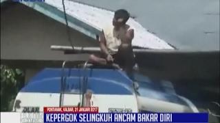 Video Kepergok Selingkuh oleh Istri, Seorang Lelaki Ancam Bakar Diri di Atas Tangki Solar - BIM 31/01 MP3, 3GP, MP4, WEBM, AVI, FLV Desember 2017