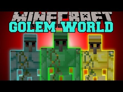 MInecraft: GOLEM WORLD (MORE GOLEMS WITH SPECIAL ABILITIES!) Mod Showcase
