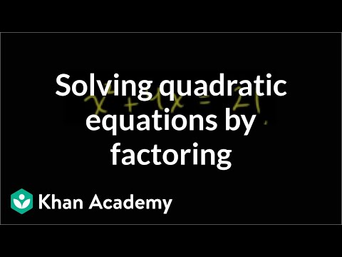 Algebra: Multiplying and factoring expressions