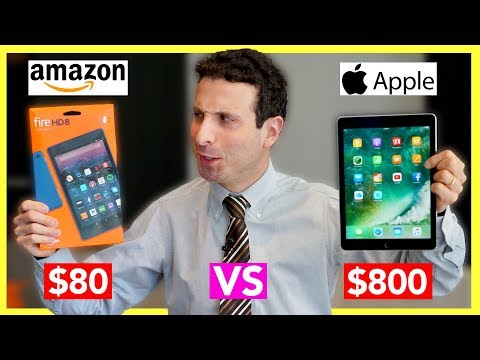 , title : '$80 Tablet vs $800 Tablet Review (Amazon Fire Tablet VS iPad Pro)'