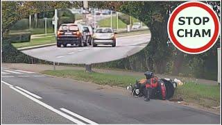 Kierowcy zablokowali BMW uciekające po zderzeniu z motocyklistą.