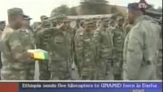 Ethiopia Sends Five Helicopters To UNAMID Force In Darfur  By Ethiopian News 2