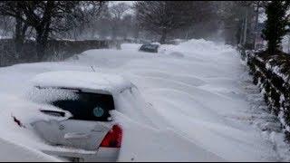 Bomb Cyclone USA & Super Freeze Blizzard Across UK Storm Emma (543)