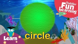 Learn shapes under the sea for kids&toddlers | Shapes and fish - educational learning video.