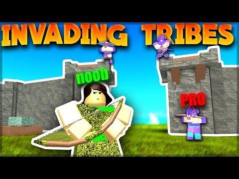 NOOB INVADES HUGE TRIBES (God Bag Giveaway)  Roblox: Booga Booga