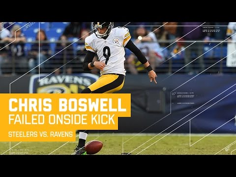 Video: Kick Fail! Steelers K Chris Boswell Attempts Worst Onside Kick Ever | Steelers vs. Ravens | NFL
