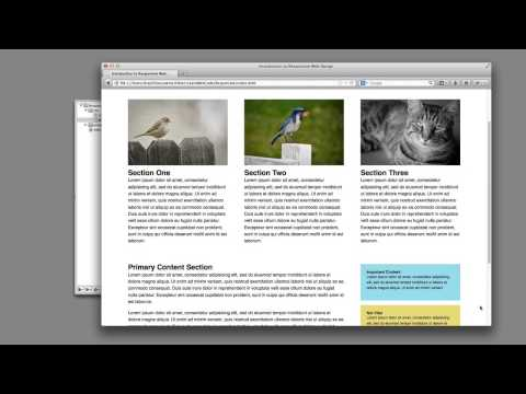 design - Demo files: http://learnwebcode.com/responsive-web-design-tutorial/ In this video we learn what Responsive Web Design is, and how to write the necessary code...