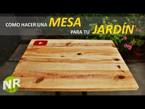 Cómo Hacer Una Mesa de Madera Para Jardín Fácil y Rápido
