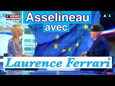 Laurence Ferrari impuissante face à la Lamborghini Asselineau - CNEWS (17/04/17)