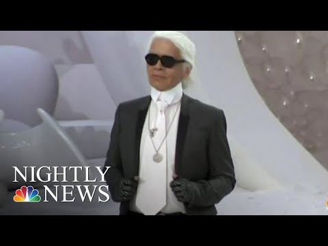 Iconic Fashion Designer Karl Lagerfeld Dies At 85 | NBC Nightly News