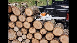 1. #252 The REAL DEAL Stihl MSA 200 C Battery Power Chainsaw