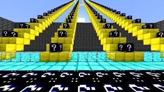 LUCKY BLACK BLOCKS STAIRCASE MOD CHALLENGE - MINECRAFT MODDED MINI-GAME!