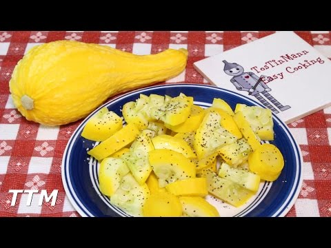 How To Cook Summer Squash~Healthy Steamed Yellow Crookneck Squash