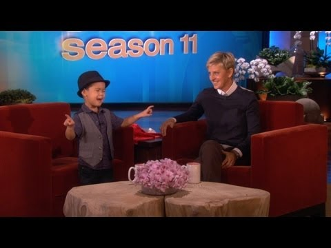 treasure - This 4-year-old singer has made a name for himself singing Bruno Mars hits on Ellen's show. He was back with another incredible performance!