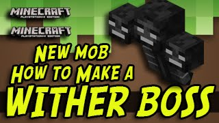 Minecraft (PS3, PS4, Xbox, Wii U) - How To Make a WITHER BOSS - Title Update Tutorial