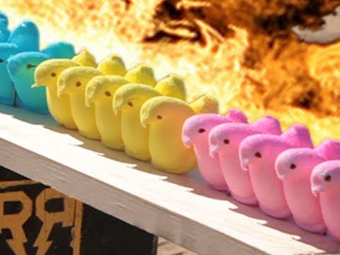 Slow Motion: Huevos de Pascua destruidos en segundos