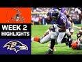 Browns vs Ravens | NFL Week 2 Game Highlights