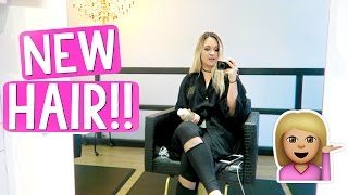 MY NEW HAIR!!!! by Alisha Marie Vlogs