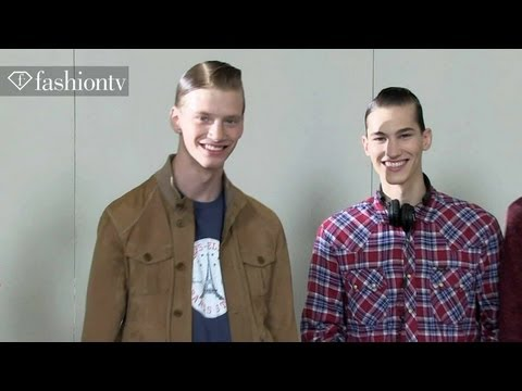 Models Backstage - Male Models Backstage at KRISVANASSCHE Spring/Summer 2014 | Paris Men's Fashion Week http://www.FashionTV.com/videos PARIS - FashionTV catches up with the ma...