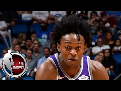 Video: De'Aaron Fox gets first triple-double, surpasses Magic Johnson in Kings' victory | NBA Highlights