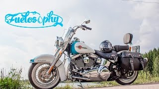 3. 2016 Harley-Davidson Heritage Softail Classic review & test-ride. [ENG.version]