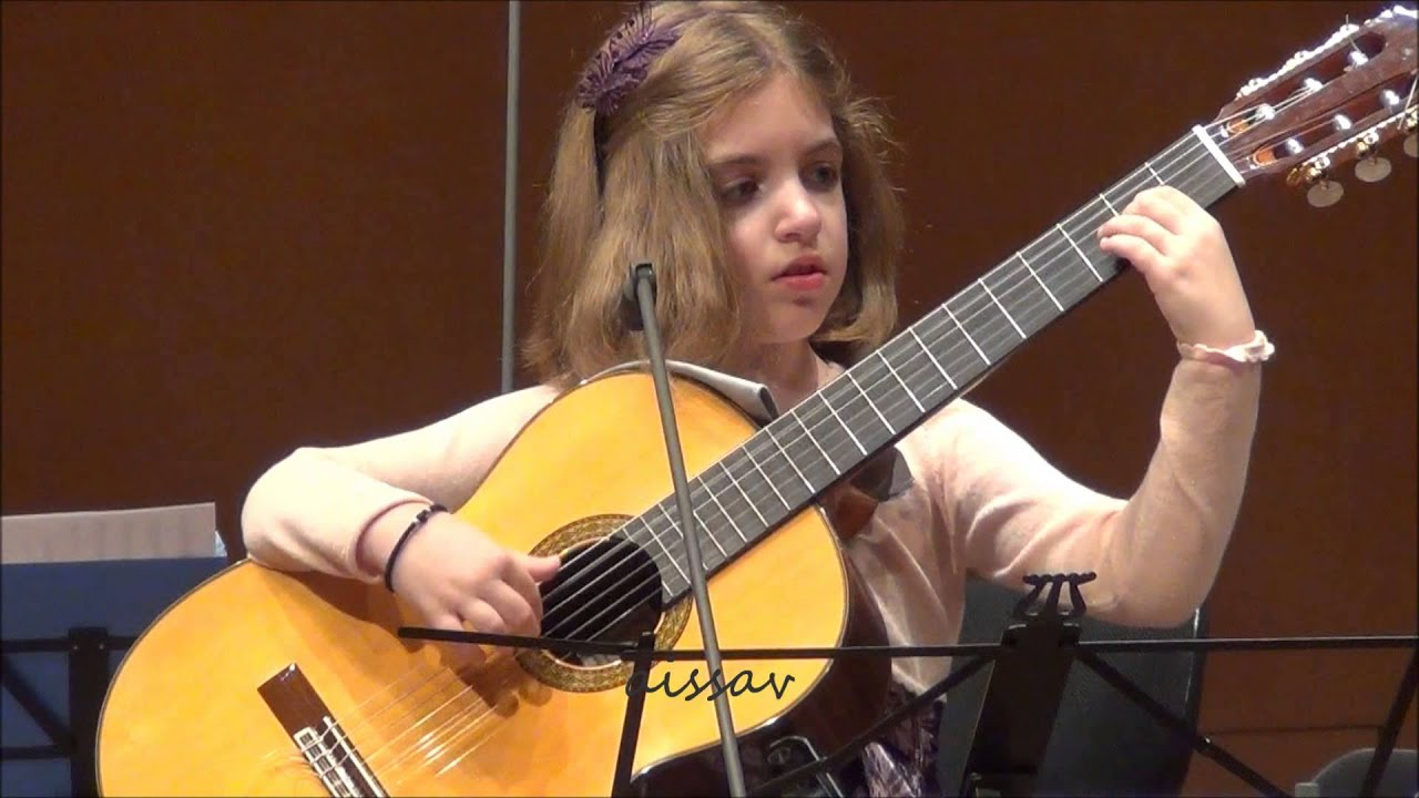 Amazing 7-Year-Old girl Guitarist – Konstantina Andritsou performs @ Megaro (Athens) HD