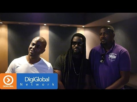 Sarkodie in studio with Selasi and John Dumelo