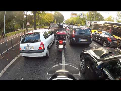 Motorcycle Ride Through Traffic Jam - Honda PCX 125