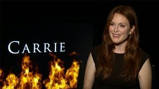 Julianne Moore Talks Carrie And The Hunger Games | POPSUGAR Interview