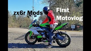2. Kawasaki Ninja ZX6R 636 Mods | First MotoVlog