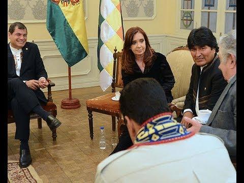 Cristina, Maduro y Correa en acto de desagravio a Evo Morales