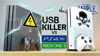 USB Killer vs PS4 Pro   Xbox One S - Instant Death