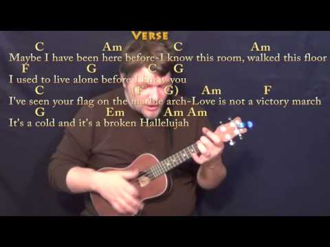 Hallelujah Rufus Wainwright Ukulele Cover Lesson With Chordslyrics