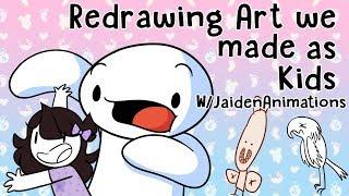 Video Redrawing Art we made as Kids w/JaidenAnimations MP3, 3GP, MP4, WEBM, AVI, FLV Maret 2019