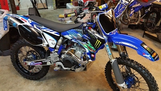 5. When is SPRING? This ol' girl is READY. 2004 Yamaha YZ250F restored in 2016