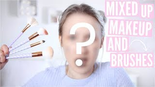 Video Mixed Up Makeup AND Brushes Challenge | Sophie Louise MP3, 3GP, MP4, WEBM, AVI, FLV Juli 2018