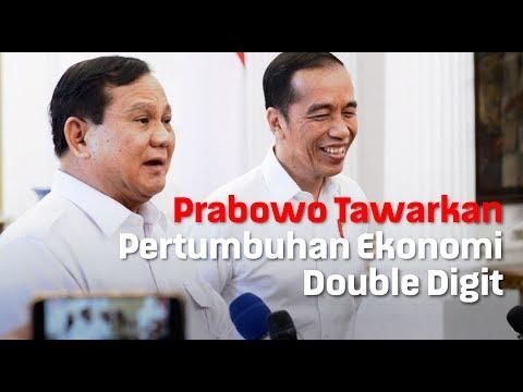 Prabowo Tawarkan Pertumbuhan Ekonomi Double Digit