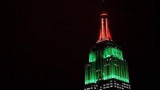 Empire State building hosts Halloween light display