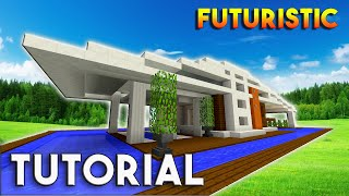 Minecraft: How To build A Modern house / Futuristic Modern House Tutorial ( Realistic )