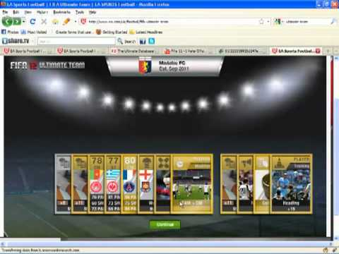 FIFA 12 Gold Pack - FIFA 12 Ultimate Team Premium Gold pack opening. I got all terrible players apart from Nilmar and as you can see I got young earlier xD.