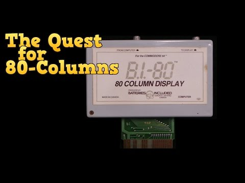 The Quest for 80 Columns on the Commodore 64