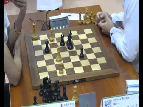 Shanglei Lu vs Carlsen, World Blitz Chess Championship 2014