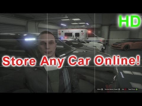 GTA V Online - Store Any Car In Your Garage (Easy Guide) HD