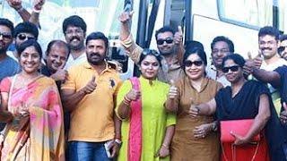 Pandavar Ani Kick starts the Canvas trip with 40 members | Vishal, Ponvannan, Kovai Sarala Kollywood News 09/10/2015 Tamil Cinema Online
