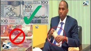 Deg Deg RW Kheyre oo Maanta BANKIGA Dhexe ku amray in Si Deg Deg loo sameeyo Lacag Somalia Cusub.
