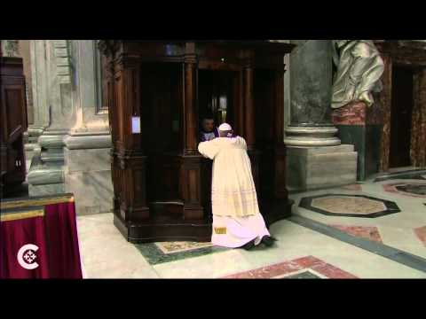 Pope Francis goes to confession, Friday March 28th, 2014.