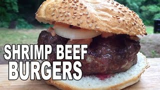 Shrimp n' Beef Burgers recipe by BBQ Pit Boys